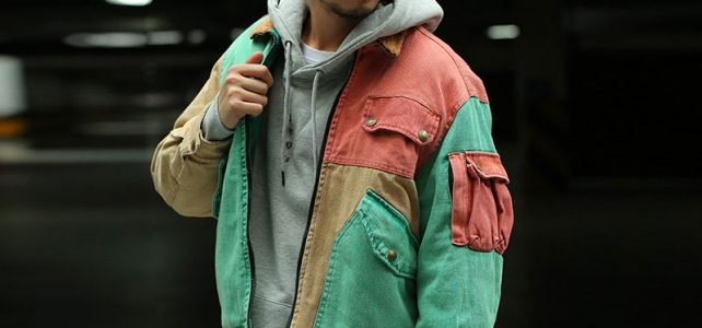 CHINISM Color Patchwork Wool Collar Thick Coats Mens Multi Pockets Loose Parkas Jackets Stylish Streetwear Mens Winter Hip Hop Review