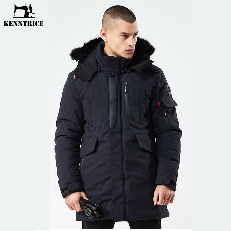 KENNTRICE 2018 Winter Jacket And Coat Men Zipper Hooded Thick Jackets Hight Quality Long Coats Plus Size Xxxl