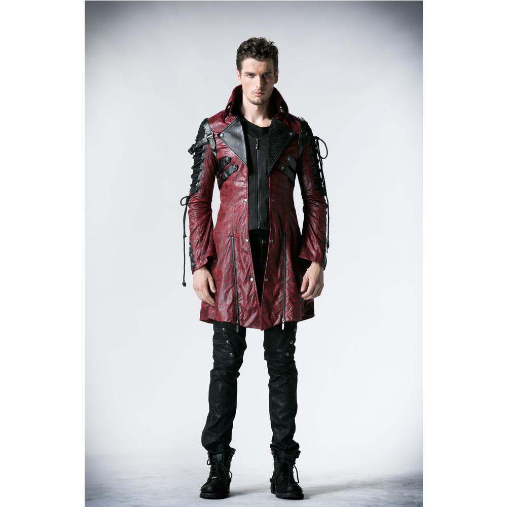 Punk Rave Gothic Man-made Leather Rock studded Cotton Jacket Coat Streampunk HoodieLot S-3XL Y349