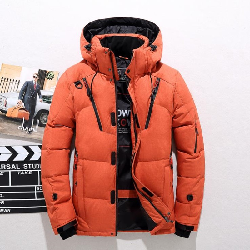 2018 High Quality 90% White Duck Thick Down Jacket men coat Snow parkas male Warm Brand Clothing winter Down Jacket Outerwear