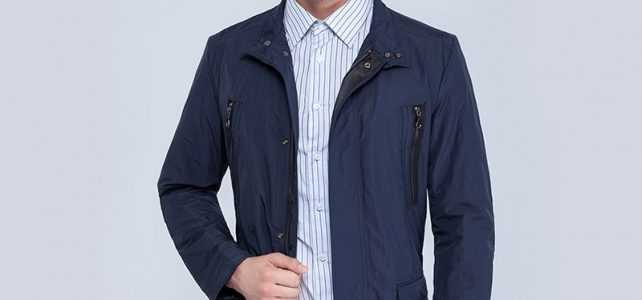 City Class mens windbreaker summer spring brand quality jackets and coats for male unique multi-pocket plus size blue 15115 Review