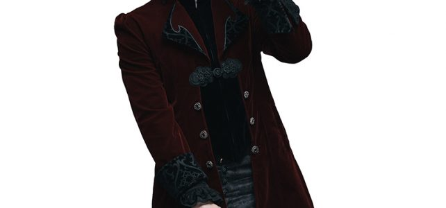Devil Fashion Gothic Palace Men's Swallowtail Jackets Steampunk Black Red Autumn Winter Casual Long Coats Velvet Overcoats Review