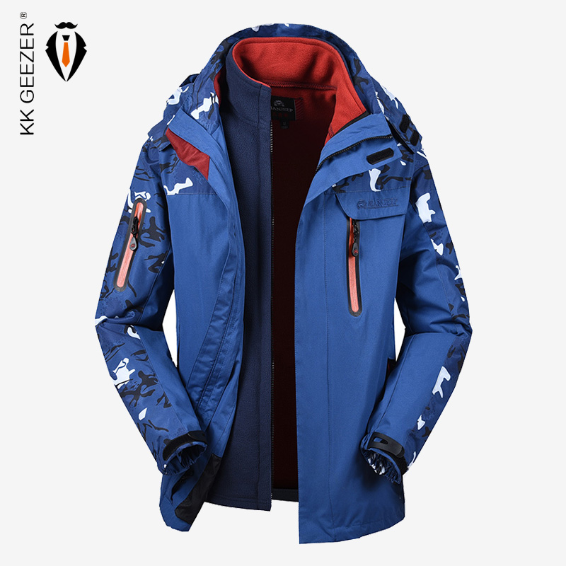 Jacket Men Winter Softshell Thicken Warm Waterproof Plus Velvet Military Windbreaker Plus Size Parkas Thermal Fashion Loose Coat