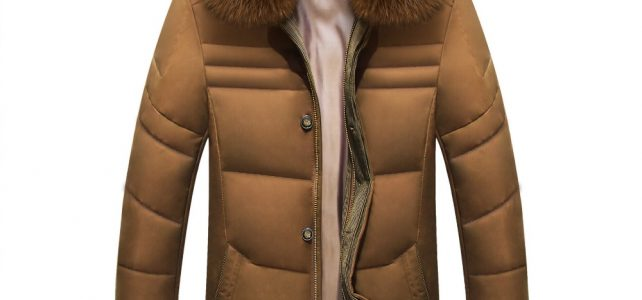 2018 Winter Jacket Men Solid High Quality Jackets Mens White Duck Down Coat Parkas With Real Fox Fur Hood Review