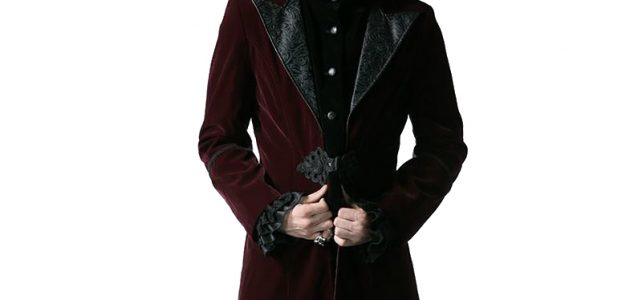 Gothic Court Fashion Men's Long Duster Coat Steampunk Autumn Winter High Collar Corduroy Jacket Thick Windbreakers Review