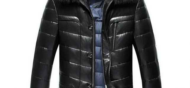 Hot Sell Winter Fashion Luxury Down Jacket Men Leather Jacket Male Down Coat Jackets High Quality Windproof Warm Faux Fur Collar Review
