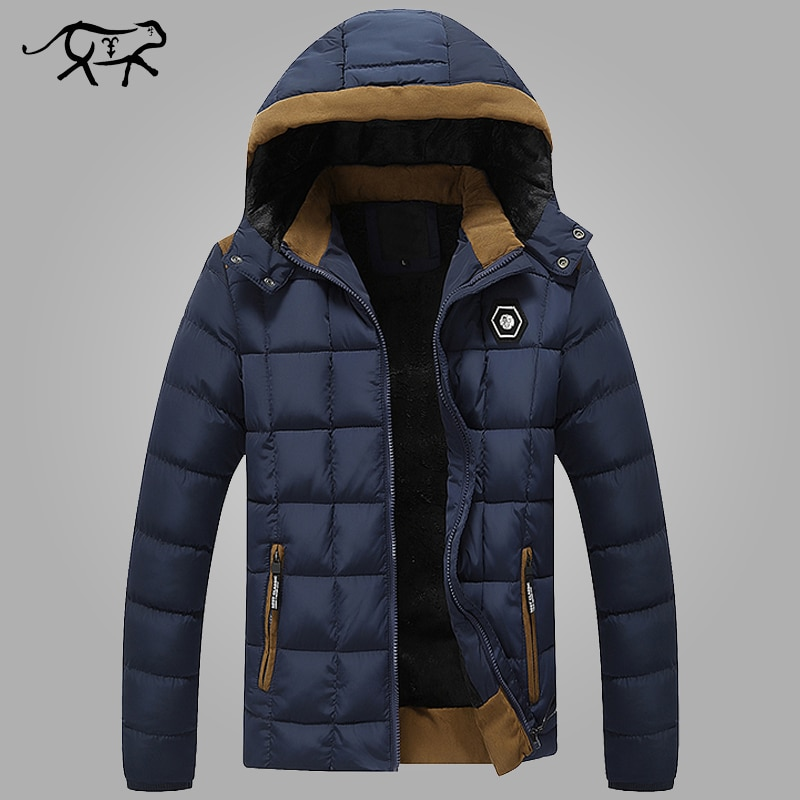 2018 New Brand Mens Winter Jackets and Coats Thicken Warm jacket Men Coats Hooded Cotton-Padded Male Clothing Hommer Parkas 3XL