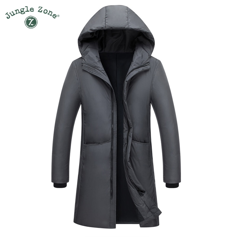 2018 New Long Can Withstand - 20 Degrees Winter Jacket Men Big Real Fur Collar Hooded Duck Down Jacket Big Size 2XL 3XL 7805