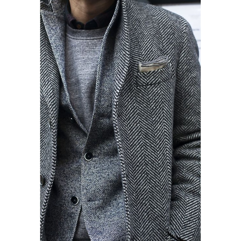 CUSTOM MADE Tweed Coat Blazer Jacket, BESPOKE Tailored Mens Tweed Jacket
