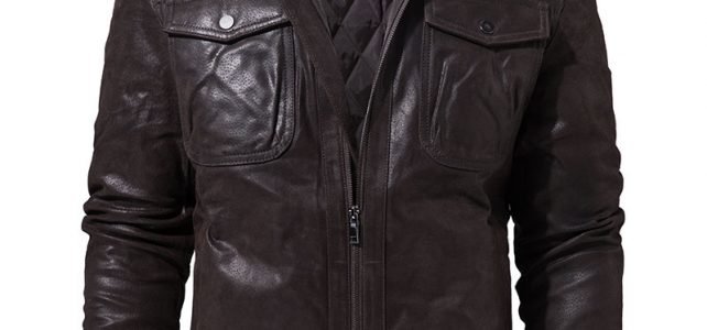 FLAVOR Men's Real Leather Jacket Genuine Leather jacket with faux fur collar male Motorcycle warm coat Genuine Leather Jacket Review