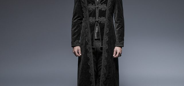 Gothic Gorgeous Retro Style Flower Pattern Long Coats Steampunk Gentleman Classical Long Jackets Review