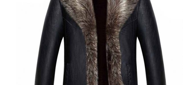 Holyrising Real Raccoon Fur Collar Men Faux Leather Jackets Winter Thicken Coat jaqueta de couro chaqueta Men PU Leather 18536-5 Review