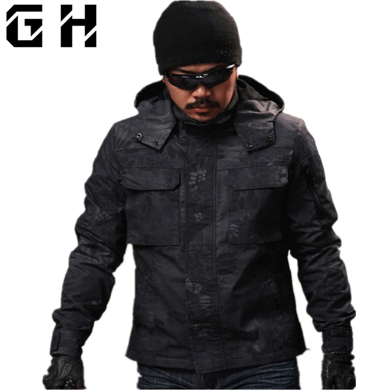 Men Chiefs Hunter Clothing Military Tactical Python pattern Camouflage Coats Camp Jacket Shooter Clothing Sportswear Chasse Caza