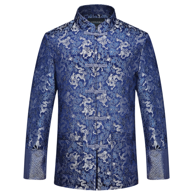 New Arrival Male Double deck Thick Outer wear Traditional Chinese Tang Suit Coat Mandarin Collor Kung Fu Jacket for Men