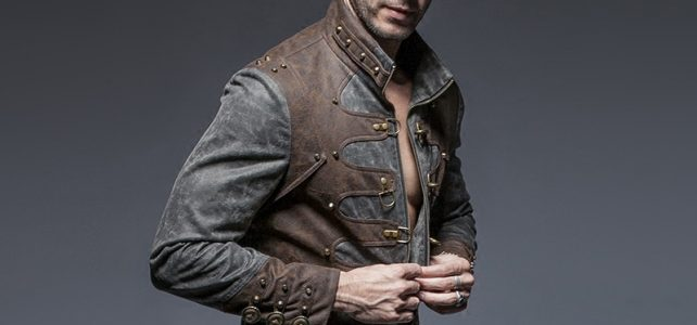Steam Punk Vintage Spliced Style Short Jacket for Man Autumn Winter Warm Zipper Stand Collar Coats Review